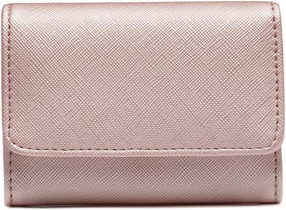 H2&B New Tri-Fold Small and Slim Wallet for Women Stylish And Compact Wallet With Many Credit Card Slots And ID Card Windows Wallet(Pink)