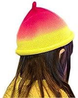 Bigood Bonnet Tricot Bébé Enfant Chapeau Souple Imprimé Automne Hiver