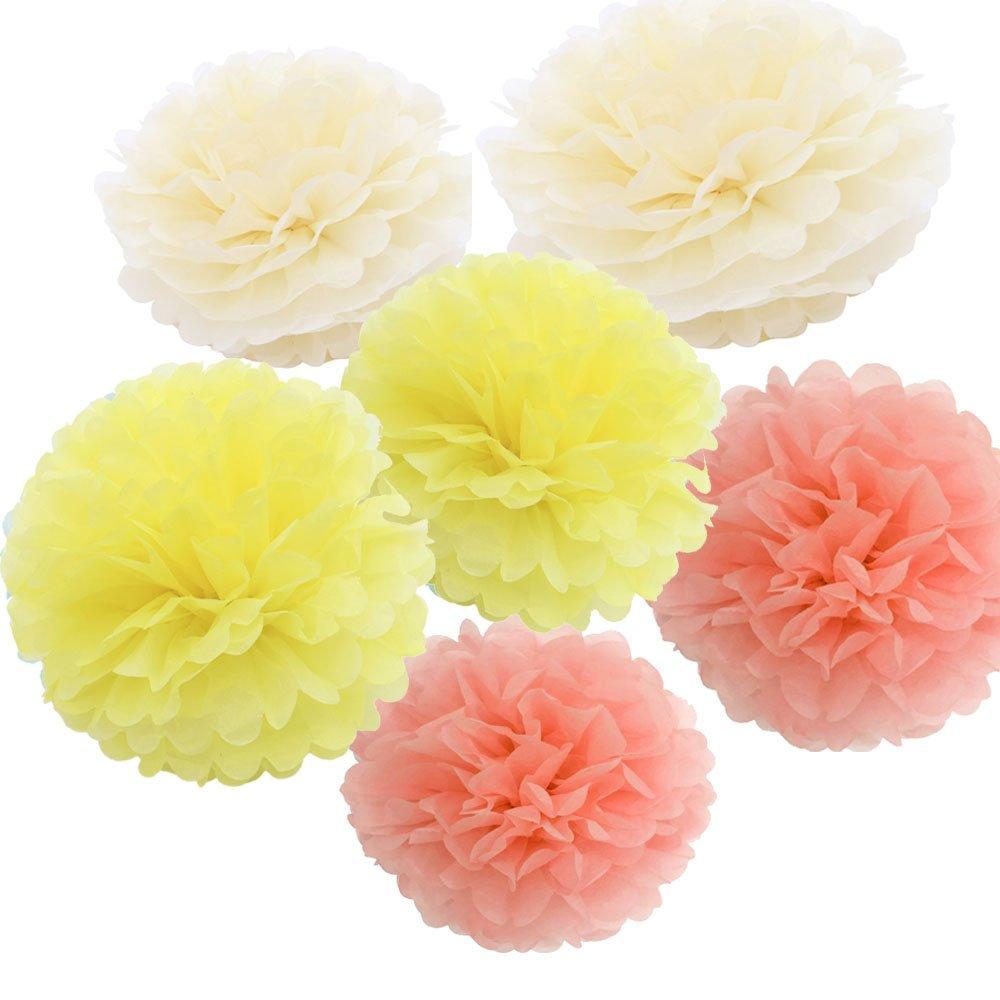 Daily Mall 18pcs 20cm 25cm Diy Pom Poms Crafts Tissue Paper Flowers