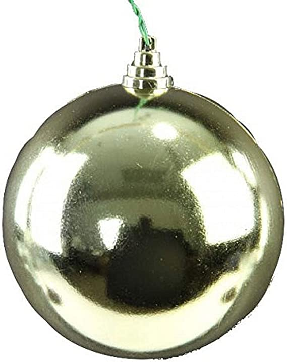 Farrisilk 100mm Shiny Gold Round 4pc Ornament Set 4 Piece Home Kitchen