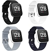 Recoppa Compatible with Fitbit Versa Bands for Women Men, Replacement Wristbands for Versa 2 and Versa Lite Special Edit Sport Straps