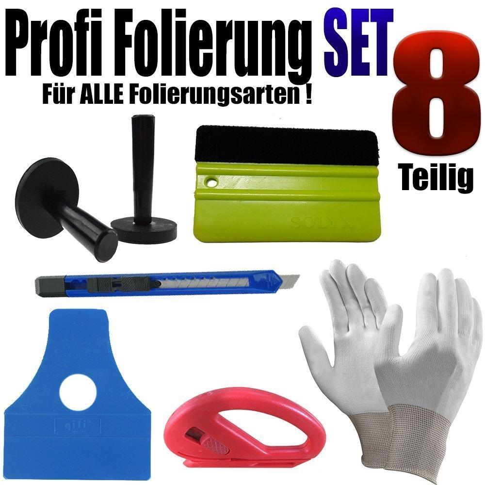 Folierung Profi Set 8 Teilige folierung Set - Rakel Set - Vollfolierung www.leonfolien-shop.de