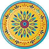 Creative Converting 319663 96 Count Painted Pottery Sturdy Style 7'' Dessert Plates