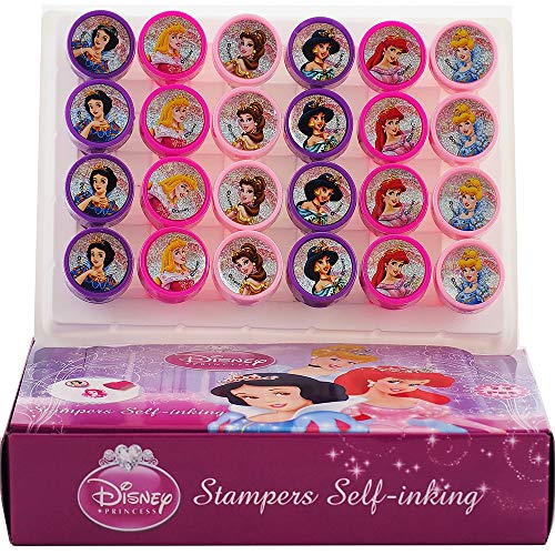 Disney's Princess Self-inking Stamps Birthday Party Favors 24 Pieces (Complete Box) - Favors Birthday Princess