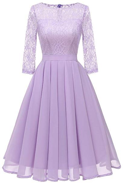 VERNASSA Mujeres Vestido Vintage de los años 50,Elegante ...