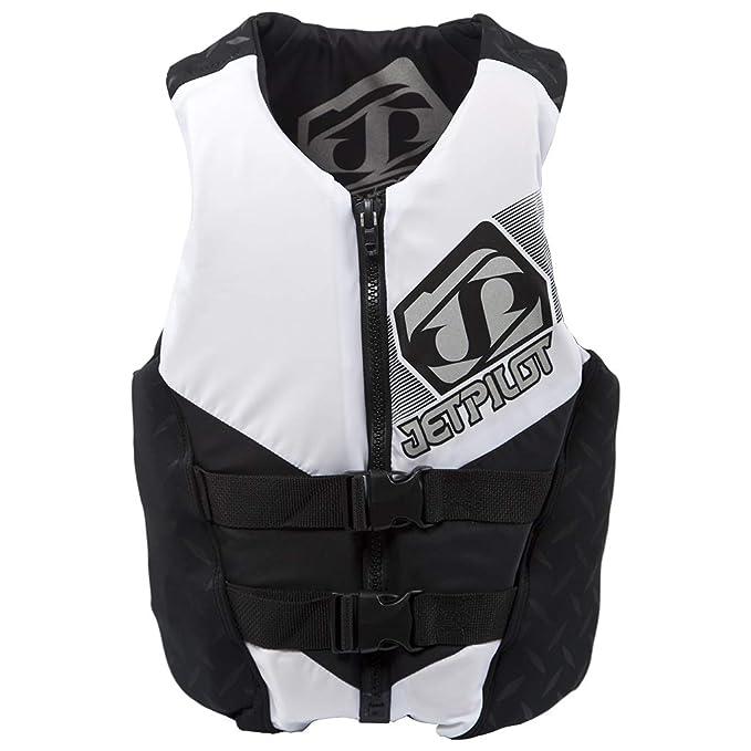 Jet Pilot Hybrid Vest White Mens Medium PFD CGA Neoprene Waterski Wakeboard Life Jacket