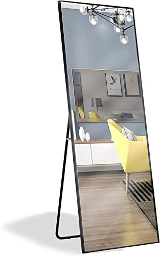 osemy Framed Full Length Mirror 64″ x21″ Rectangle Shatter-Proof Mirror/Floor Free Standing/Hanging/Leaning/Against Wall Mirror