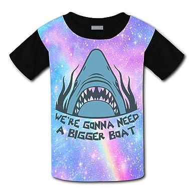 b8e3a453fb6b Amazon.com  CuGuGo Youth Shark Need A Bigger Boat 3D T Shirt Kids ...