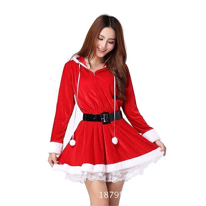 MAIMOMO Conjuntos De Lencería para Mujer Ropa Interior Erótica Navidad Servicio Uniforme Rojo Navidad Gato Navidad