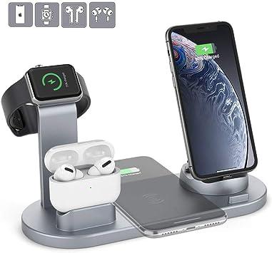 HSYTEK Station de Charge sans Fil 6 en 1 pour iPhone 11XS