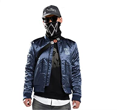 Elegant Mens Casual Watch Dog 2 Marcus Holloway Premium Quilted Lightweight  Zip up Jacket Cosplay Costume ca6282d4ec3eb