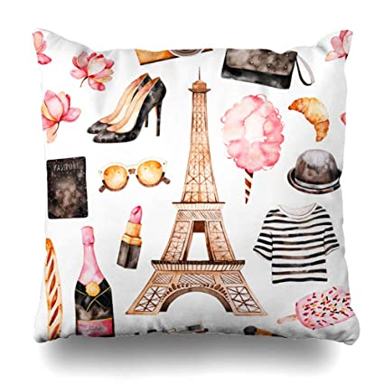 Amazoncom Ahawoso Throw Pillow Cover Lady Champagne
