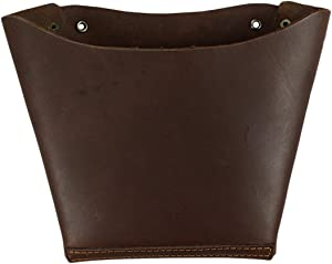 Hide & Drink, Thick Leather Wall Mail Pocket, Phone Wallet Document Organizer, Home and Office Accessories, Handmade Includes 101 Year Warranty :: Bourbon Brown