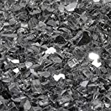 1/2'' Gunmetal Gray Metallic / Reflective Fireglass 10 Pound Bag