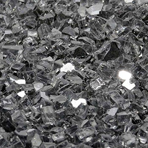 1/2'' Gunmetal Gray Metallic / Reflective Fireglass 10 Pound Bag by Fire On Glass
