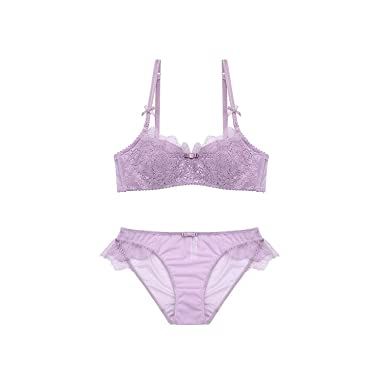 2d8691cda53 2018 Sexy Women Lace Lingerie Bra Set Push Up Bras and Underwear Sets Plus  Size A B C D Cup Embroidery Bra and Panty Set at Amazon Women s Clothing  store
