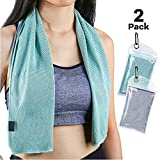 Sarissa Cooling Towel 2 Packs for Instant Relief, Cooling Neck Head Wrap Towels
