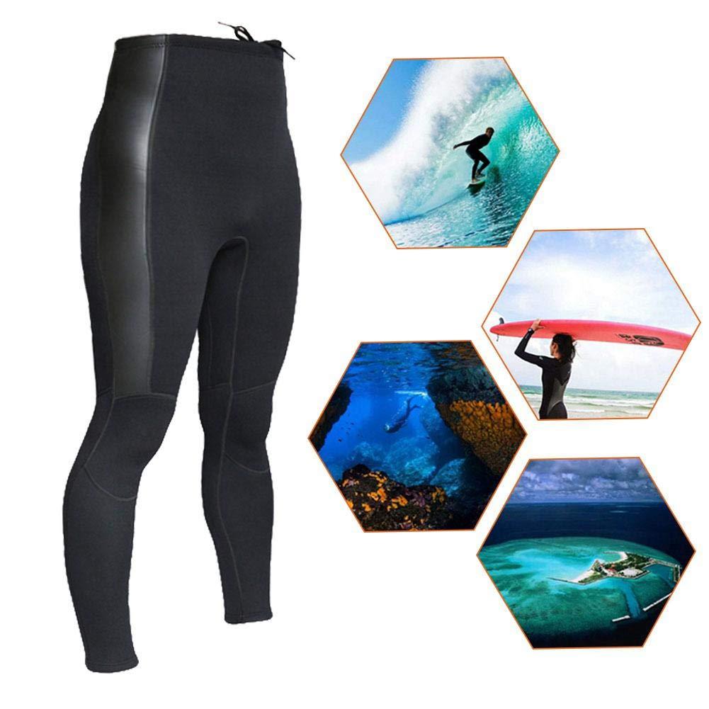 Muta da Sub Muta Lunga Pantaloni da Snorkeling a Vita Alta 2mm Muta in Neoprene Calda Superfalda Muta per attivit/à Ricreative allaperto Surfing Scuba Canoeing Nero