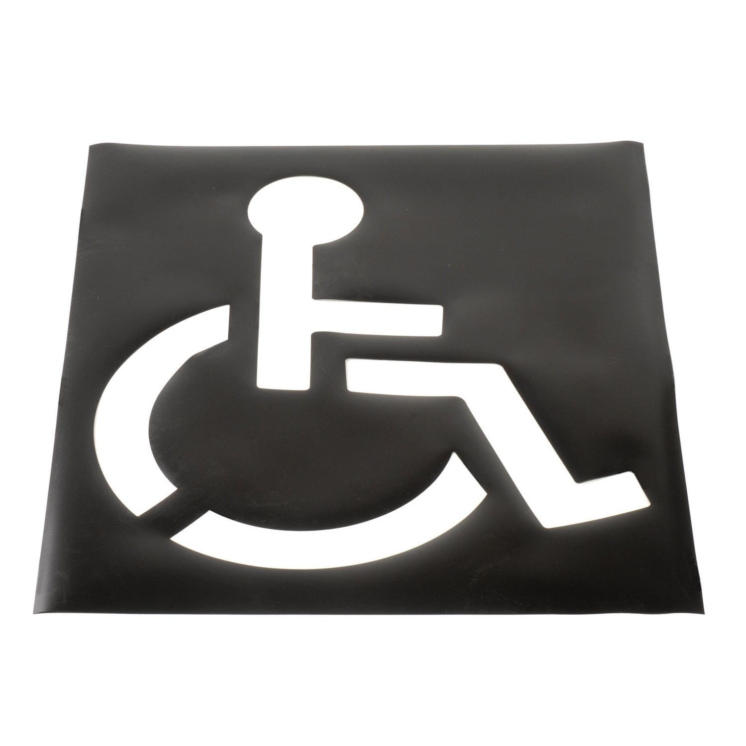 Global Industrial Parking Lot Stencil, Handicapped Symbol, 37''x43'' Template