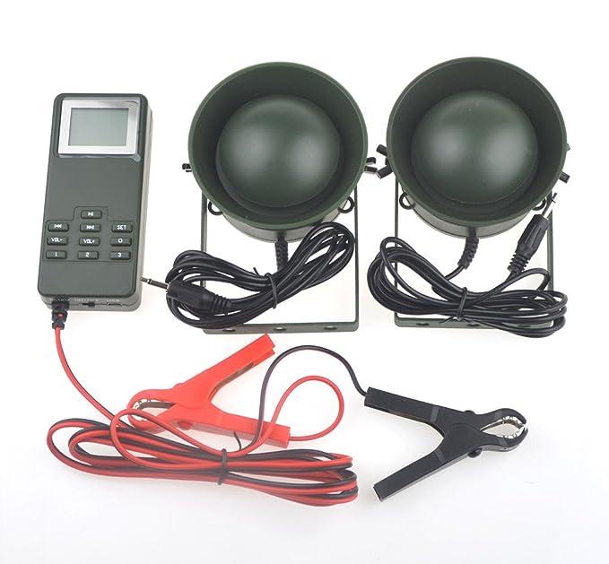 Al aire libre Altavoz de caza pájaro llamada reproductor de mp3 voz alta y clara largo tiempo de trabajo con bolsa de portátil 50 W Amplificador 150 db ...