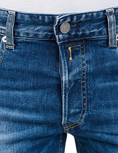 Grover Azul 7 Denim Straight para Blue Vaqueros REPLAY Hombre Mid fBUqTPT1w6