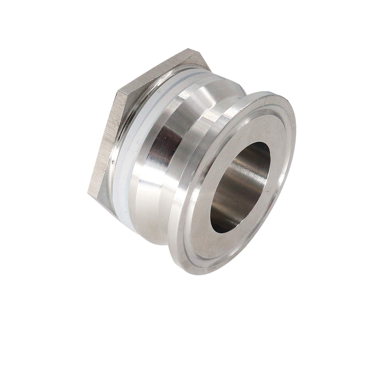 Bulkhead Compression Fitting 1.5'' TC homebrew Weldless Bulkehad 304 Stainless Steel Homebrew Kettle Bulkhead by CRBrewBeer