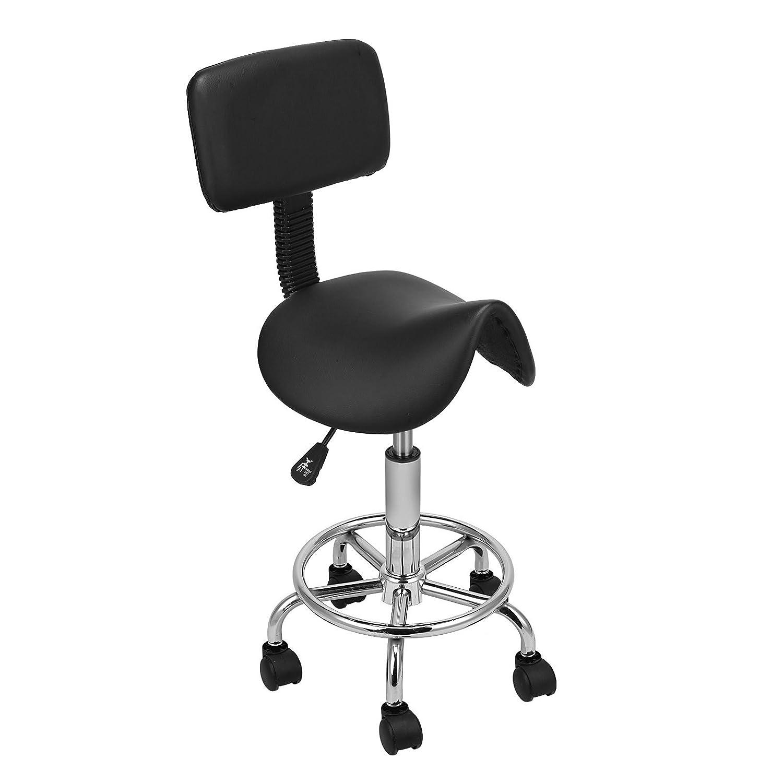 voilamart saddle salon massage chair with backrest adjustable swivel rh amazon co uk salon style massage chair salon backwash massage chairs