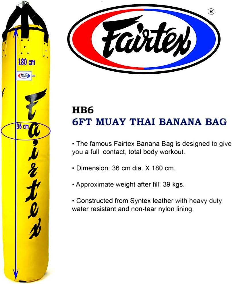 KICK PUNCHING BAG FAIRTEX 6FT MUAY THAI BANANA BAG UN-FILL HB6 KICK TRAINING