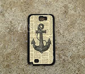 Galaxy Note 2 Case Cover, Vintage Anchor Nautical Design Custom Cases for Sam...