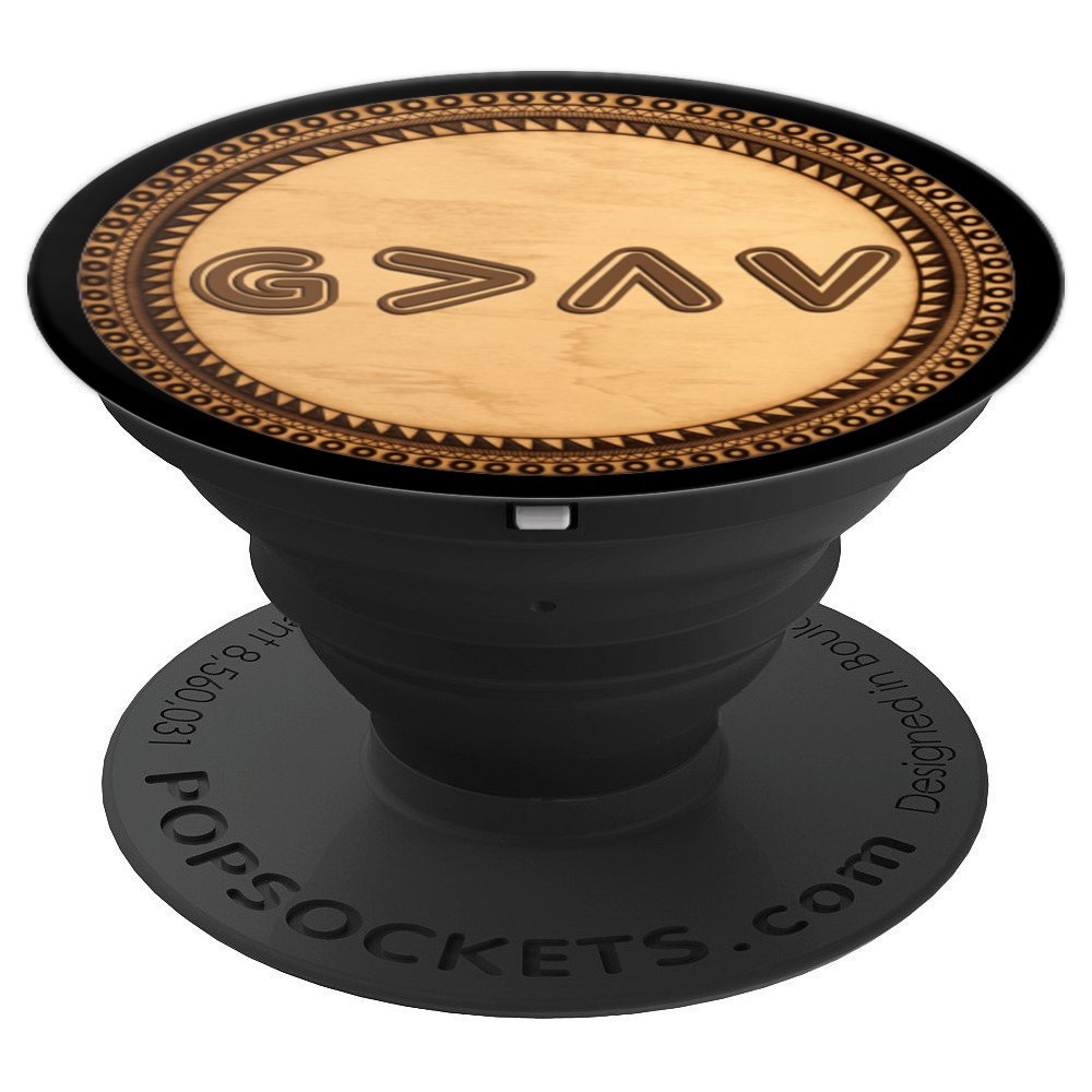 God is Greater Than the Highs and Lows Mandala Gift - PopSockets Grip and Stand for Phones and Tablets