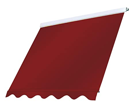 Tenda Da Sole Cassonata 2 5x2 5mt Rosso Ferrara Sistema A Caduta