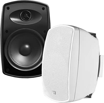 TIC ASP120-W 6.5 Weather-Resistant Outdoor Patio Speakers with 70v Switch Pair White /…