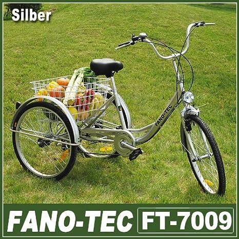 Triciclo para adultos de Rman, bicicleta para adultos con cesta de ...