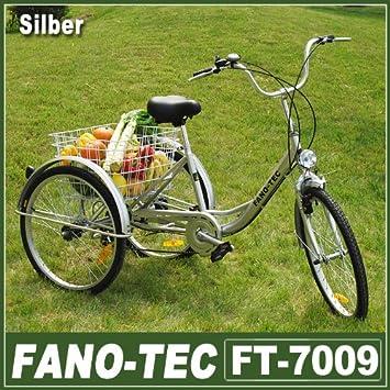 Triciclo para adultos de Rman, bicicleta para adultos con cesta de transporte y 3 ruedas