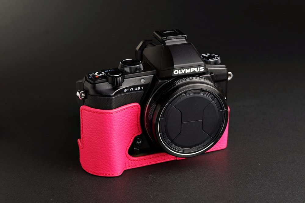 Handmade Genuine Real Leather Half Camera Case Camera bag for Olympus STYLUS 1 10 colors