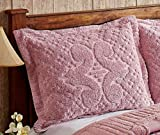 Better Trends / Pan Overseas Ashton 430 GSM Heavy Weight 100-Percent Cotton Chenille Tufted Sham, Standard, Pink
