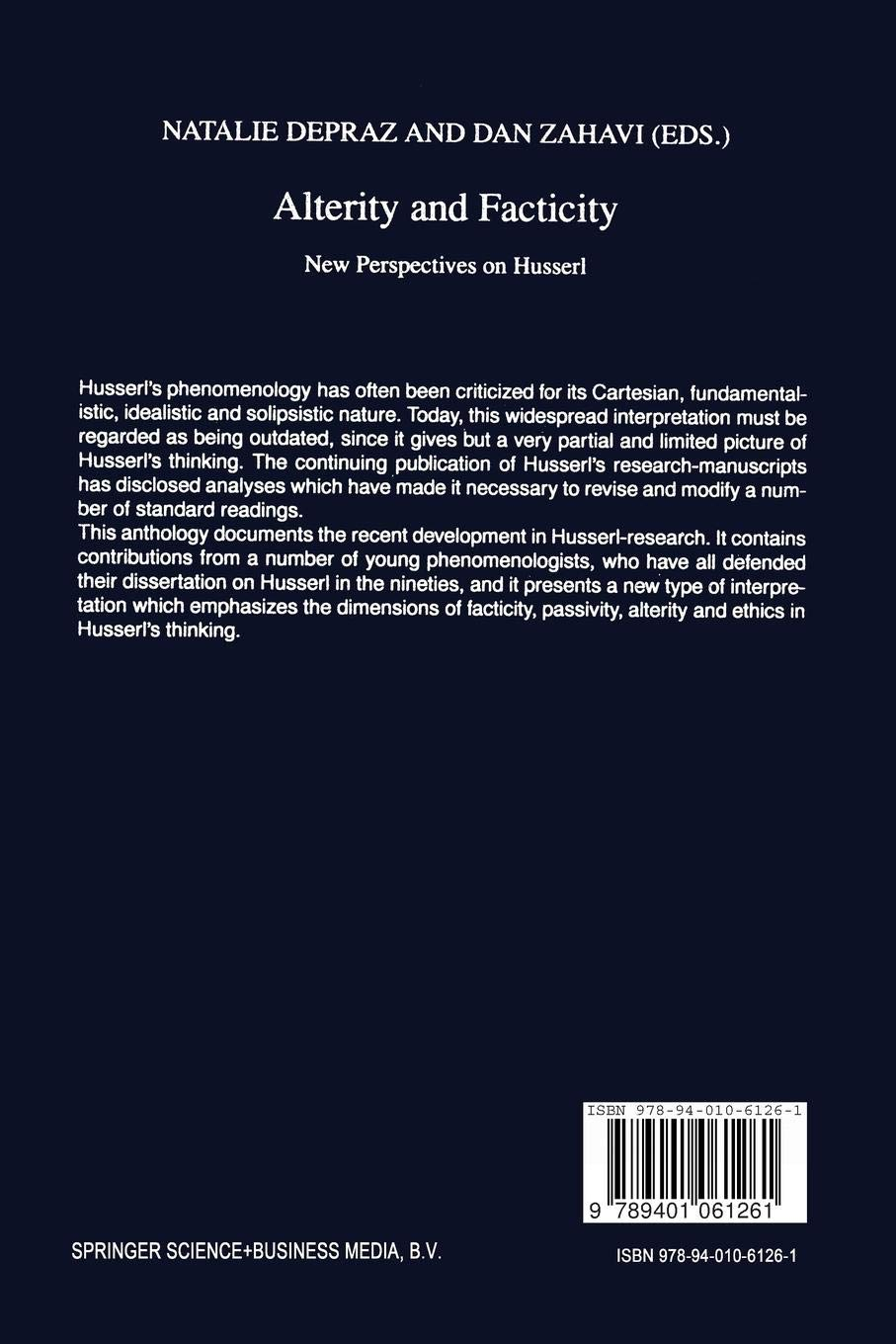 Alterity and Facticity: New Perspectives on Husserl