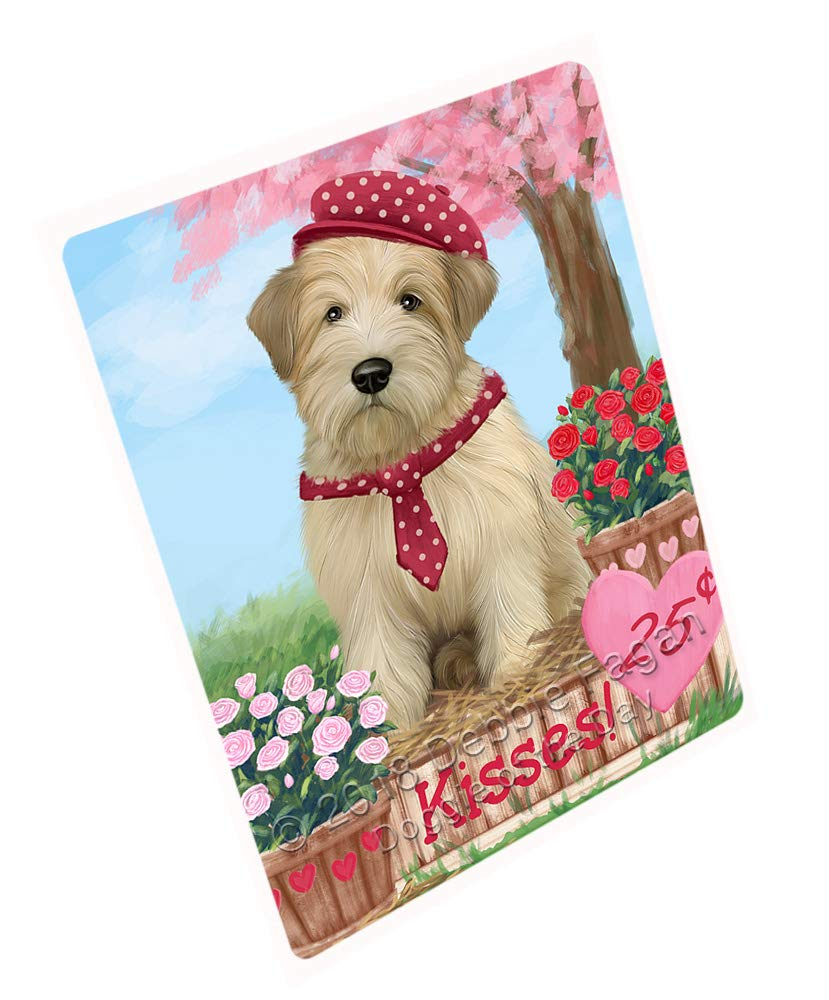 Doggie of the Day Rosie 25 Cent Kisses Wheaton Terrier Dog Blanket BLNKT125814 (50x60 Sherpa)