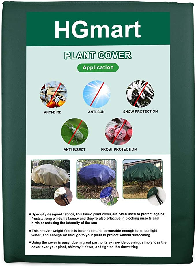 108x108 OriginA Plant Covers Protection Bags with Zipper for Outdoor Trees Shrub Jacket Bug//Insect Barrier Bag 0.9oz//sq.yd
