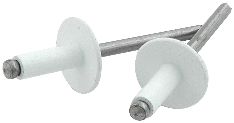 Allstar ALL18156  Large Head Rivet, Aluminum, White, Pack of 250
