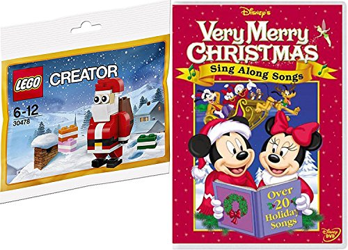 Disney Sing Along Songs Lego Creator Buildable Santa & Very Merry Christmas Animated characters Sing A Long Fun Double Pack (Along Songs Christmas Sing Special)