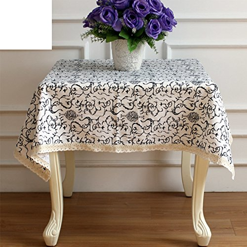 Cotton and linen table cloths,Modern pastoral square tablecloth,Nordic table cloth-H 120x180cm(47x71inch) - European Tablecloth