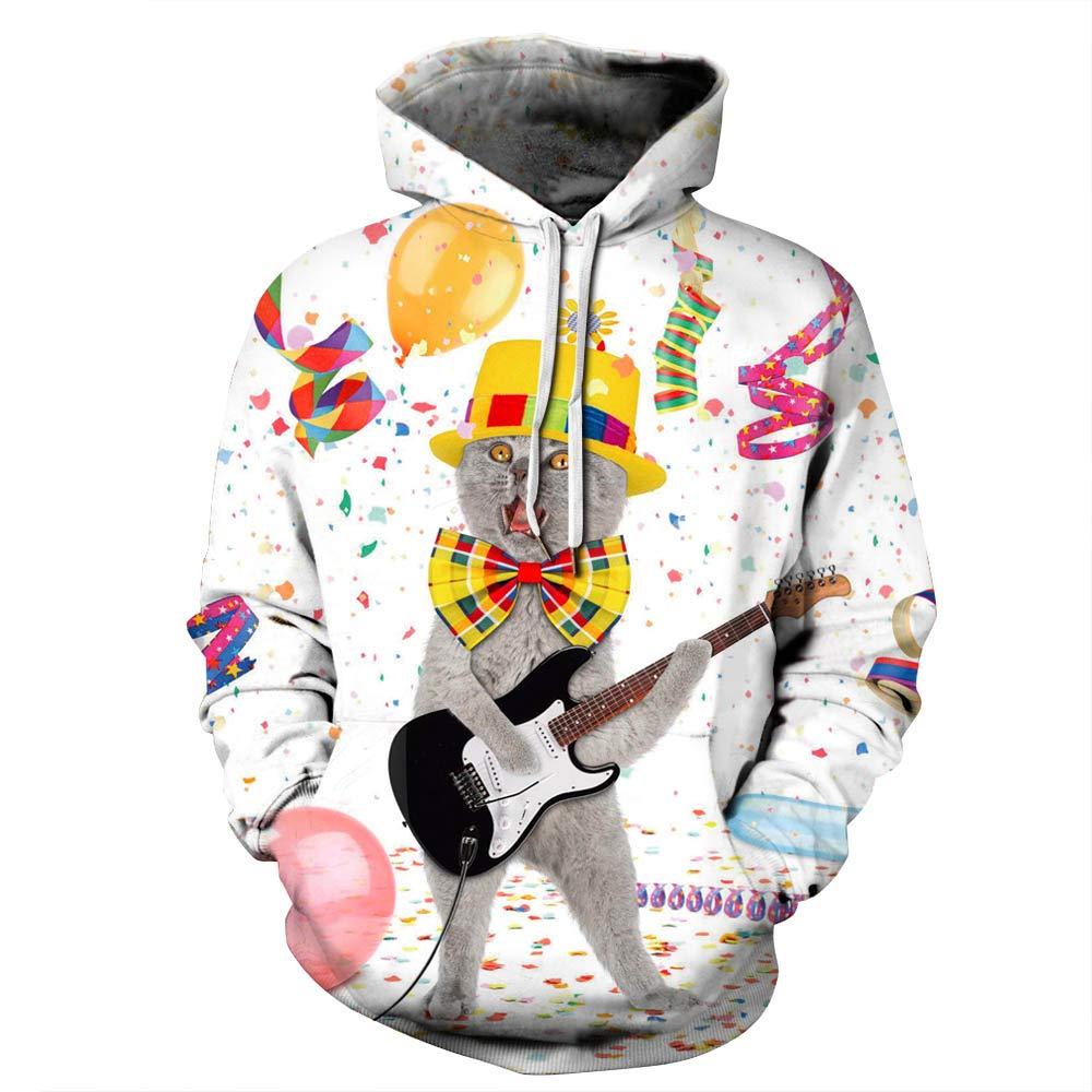 URVIP Unisex Christmas Theme 3D Printed Pullover Fashion Hoodies Sweatshirts QYDM-387 XXL/XXXL by URVIP