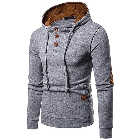 LILICAT Suéter de Empalme de Bolsillo para Hombre Sudadera con Capucha de Manga Larga Tops Blusa (Gris Oscuro, Negro, Gris, S/M / L/XL / 2XL): Amazon.es: ...