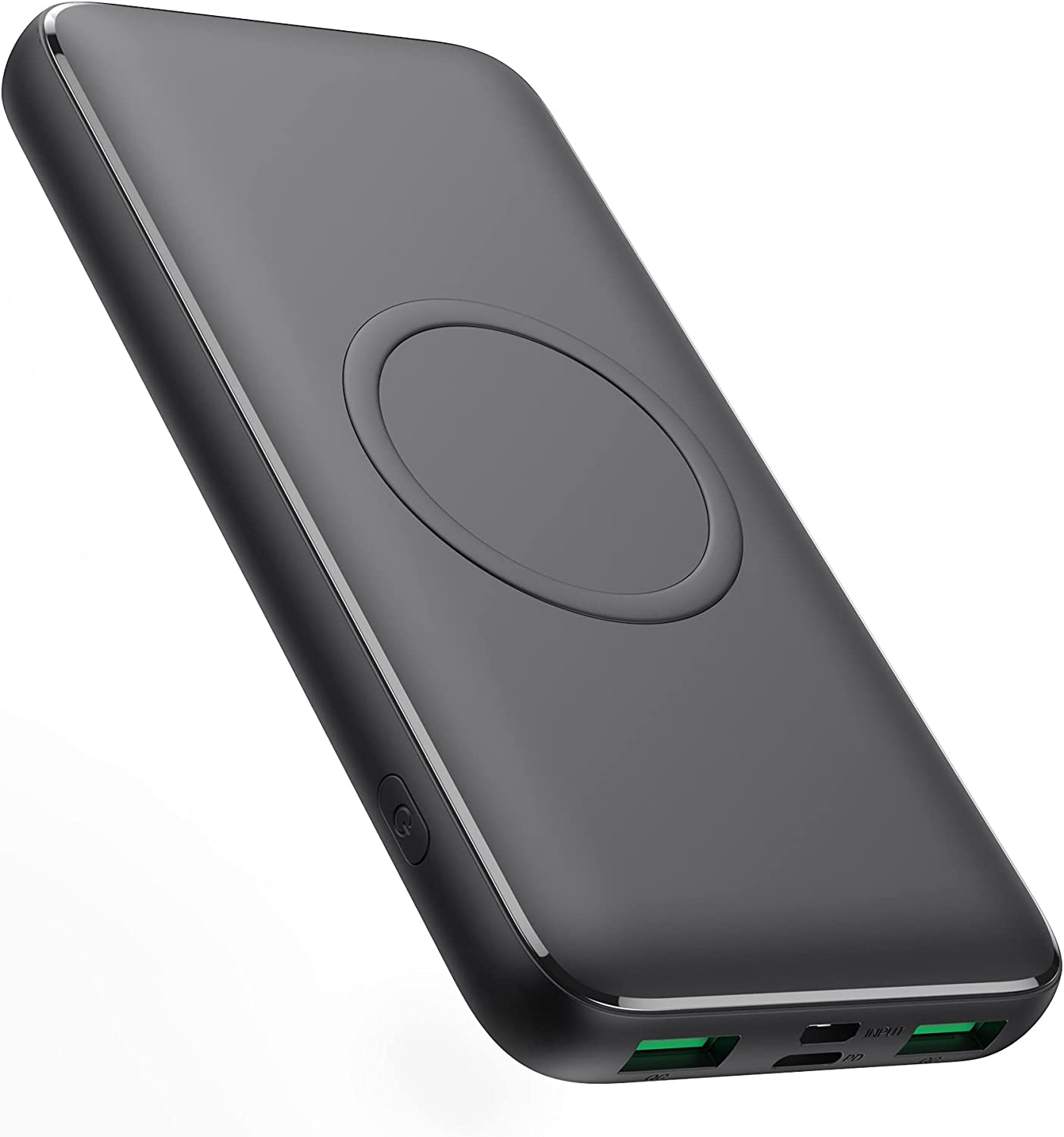 Wireless Portable Charger, Slim 13800mah Dual QC4.0 Fast Charging Power Bank, 15W Wireless Charging 25W PD Quick Charging Battery Pack, External Battery Charger Compatible with iPhone, Samsung, iPad