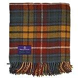 Prince of Scots Highland Tartan Tweed 100% Pure New Wool Throw ~ Antique Buchanan ~