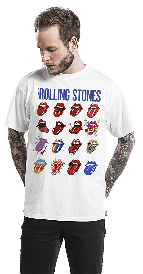 The Rolling Stones Blue And Lonesome Evolution Camiseta Blanco M ...