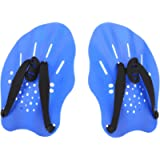GASHER Contoured Swim Hand Paddles Swimming Training Paddles with Adjustable Straps Swimming Fins