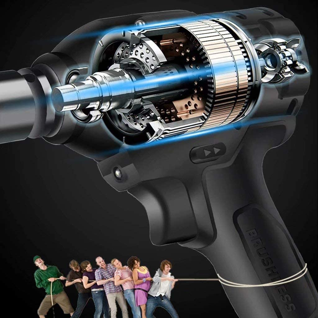 Dépêchez-Vous GZ Clé à Chocs 18V Electric High Torque 650 N.m Driver sans Fil 1/2
