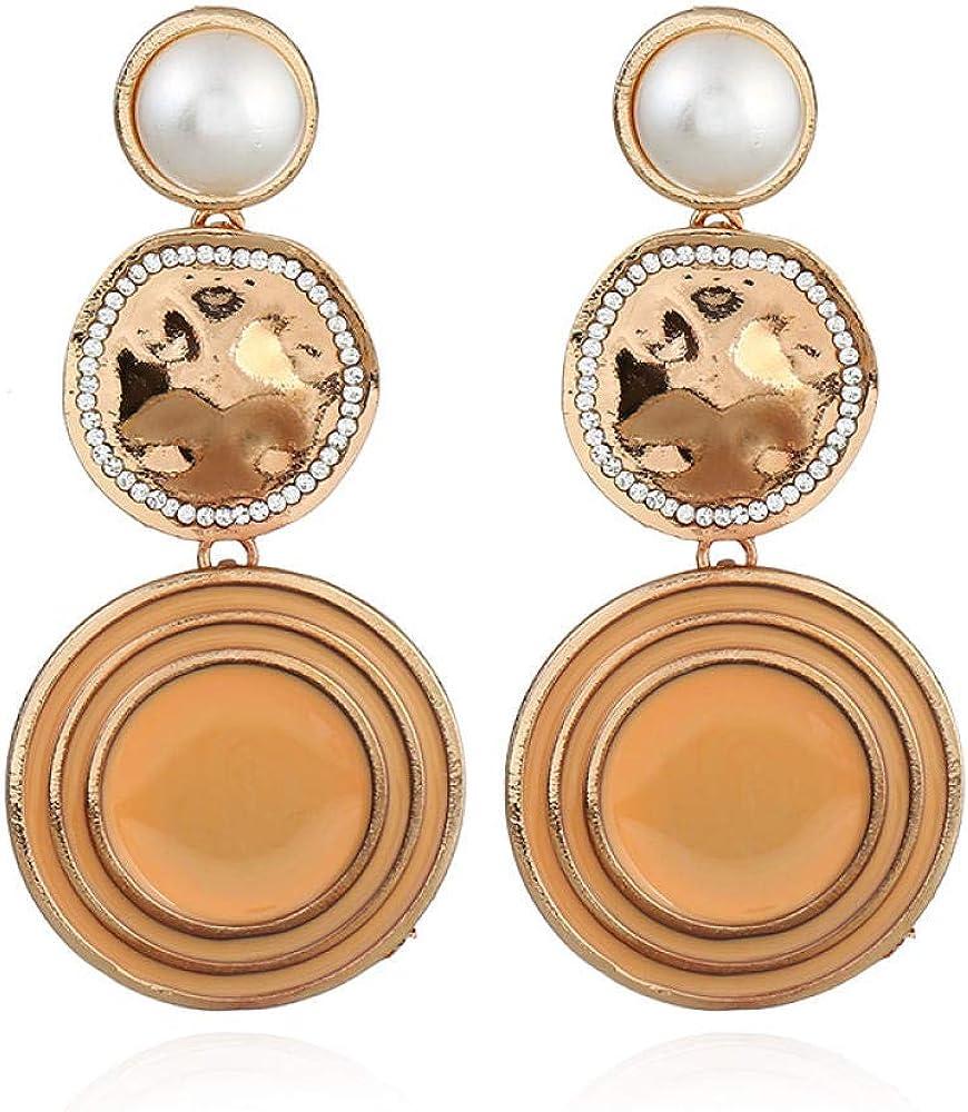 Mujer Bohemia Pendientes Largos Colgantes Borla Flecos Fiesta,Pendientes Elegantes,Pendientes de diamantes de piedras preciosas de perlas multicolores